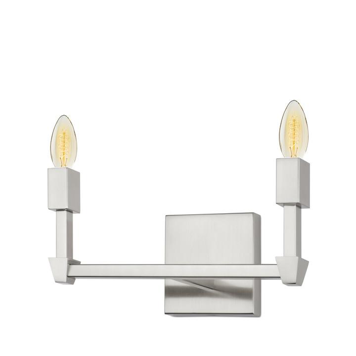 Kingston 2-Light Vanity, Satin Nickel