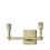 Kingston 2-Light Vanity, Aged Brass