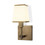 Kingston Wall Sconce with Opal Glass Shade, Aged Brass