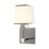 Kingston Wall Sconce with Opal Glass Shade, Satin Nickel