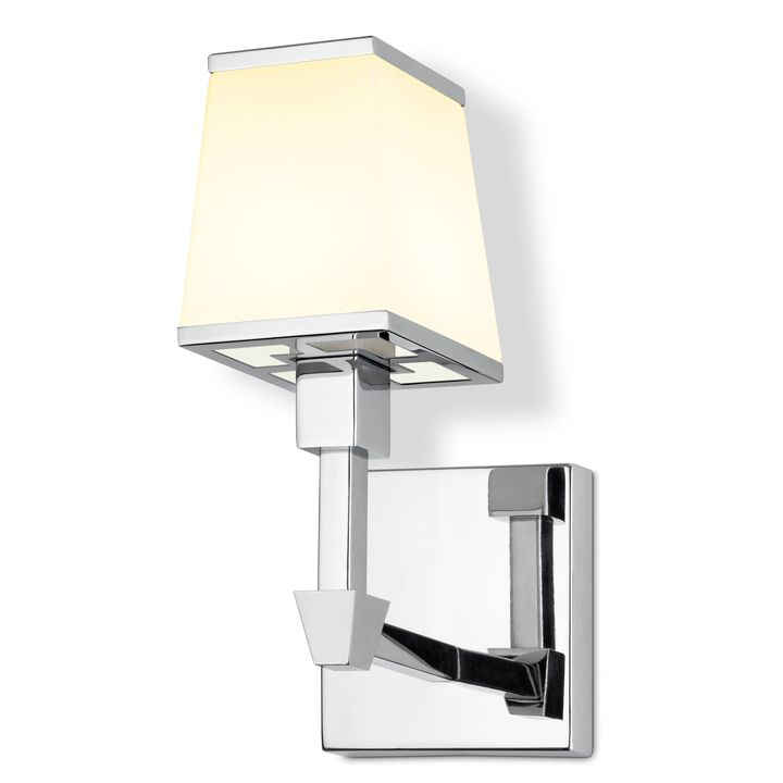 Kingston Wall Sconce with Opal Glass Shade, Polished Nickel