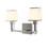 Kingston 2-Light Vanity with Opal Glass Shade, Satin Nickel