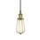Alton Pendant with Edison Raindrop Cage, Aged Brass