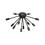 12-Light Matte Black Sputnik Flush Mount