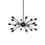 18-Light Matte Black Sputnik Chandelier