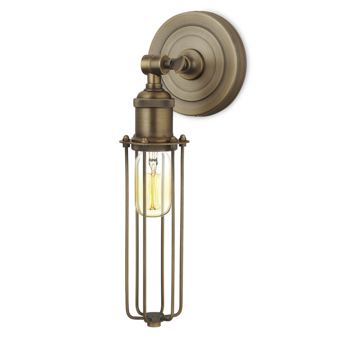 Alton Wall Sconce with Slim Cage, Bronze