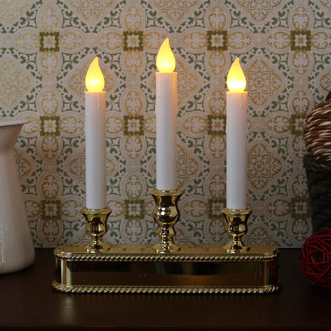 Lights.com | Flameless Candles | Taper Candles | Gold