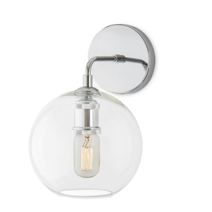 Hoyt Wall Sconce With Clear Globe, Chrome Part 35