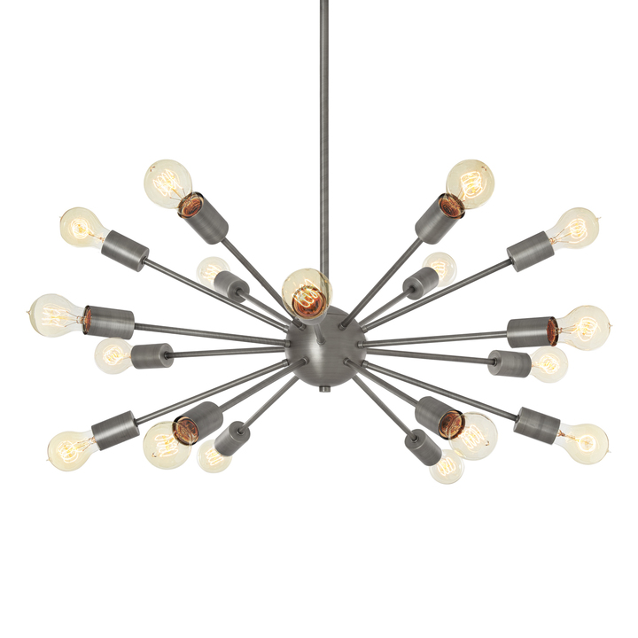 Lights ceiling chandeliers 18 light pewter sputnik chandelier 18 light pewter sputnik chandelier aloadofball Choice Image