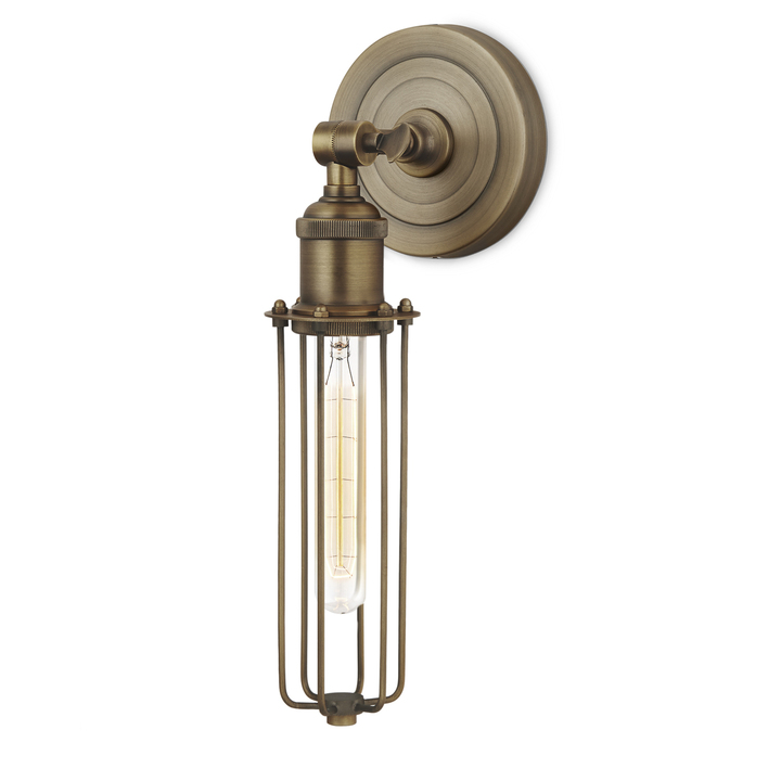 Clifton Wall Sconce with Slim Cage, Bronze