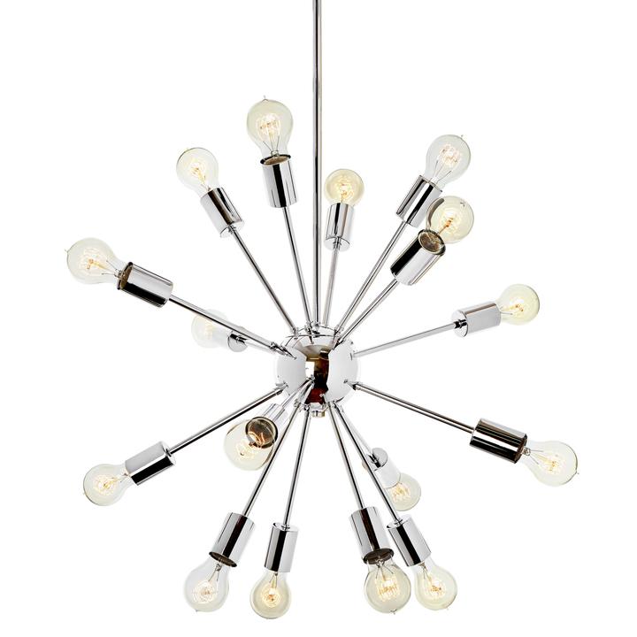 16-Light Sputnik Pendant in Chrome, Medium