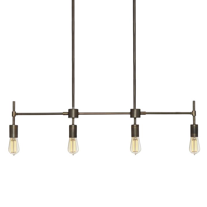 Prospect 4-Light Linear Pendant Bronze ...  sc 1 st  Lights.com & Lights.com | Ceiling | Pendant Lighting | Prospect 4-Light Linear ...