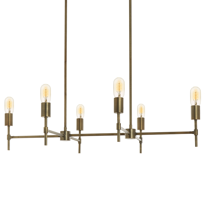 Lights ceiling chandeliers prospect 6 light linear prospect 6 light linear chandelier bronze aloadofball Image collections
