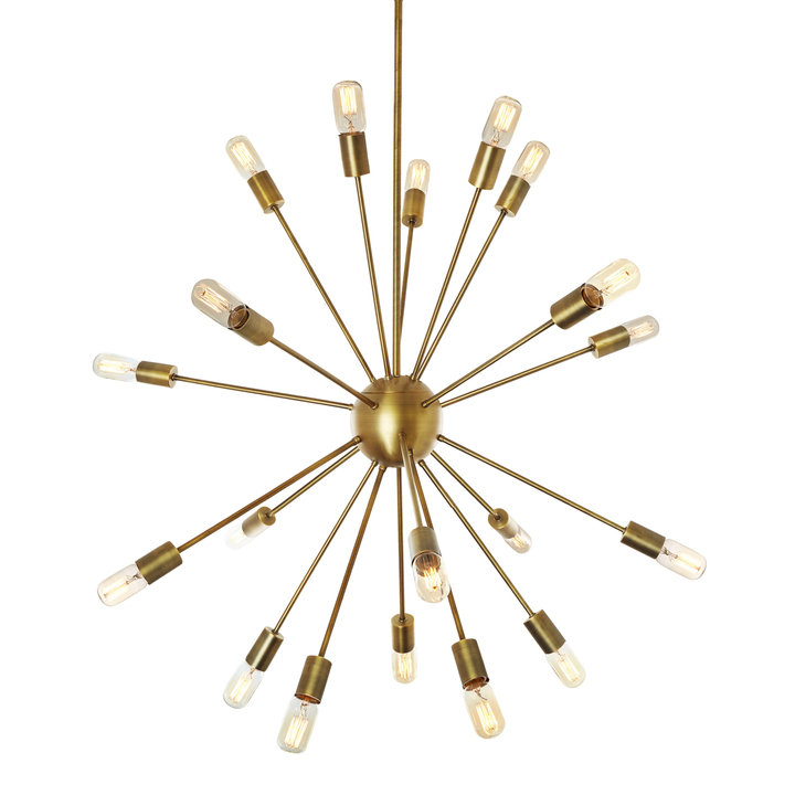 Lights ceiling chandeliers 20 light aged brass sputnik 20 light aged brass sputnik chandelier aloadofball Images