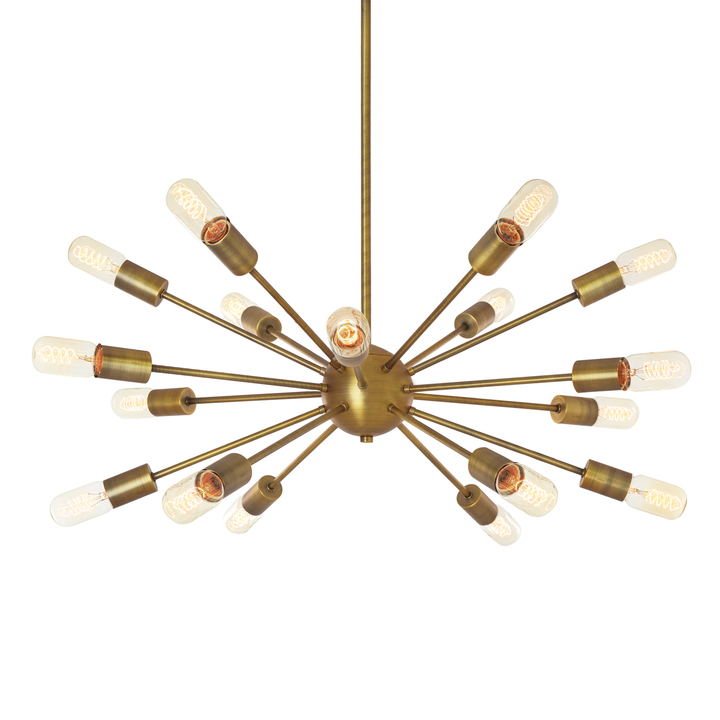Lights ceiling chandeliers 18 light aged brass sputnik 18 light aged brass sputnik chandelier aloadofball Images