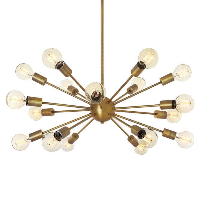 18-Light Sputnik, Aged Brass