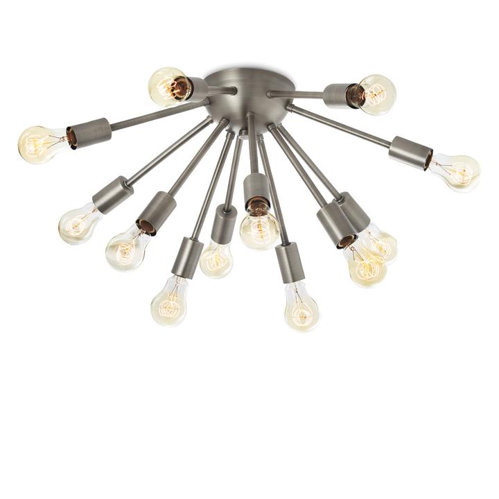12-Light Sputnik Flush Mount, Pewter
