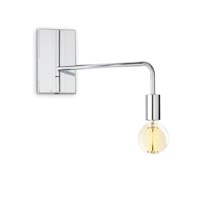 Prospect Swing Arm Wall Sconce, Chrome ...
