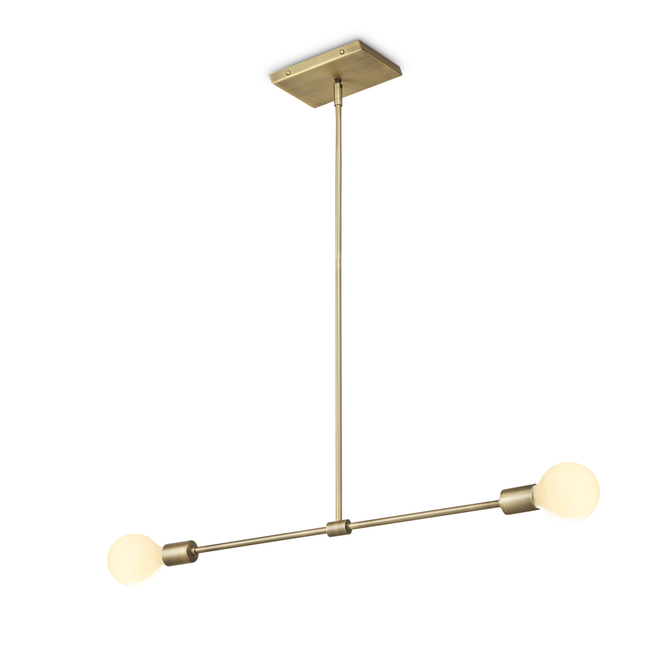 Lights ceiling pendant lighting prospect 2 light pendant prospect 2 light pendant aged brass aloadofball Image collections