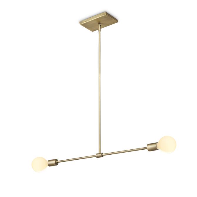 Lights ceiling pendant lighting prospect 2 light pendant prospect 2 light pendant aged brass aloadofball Gallery