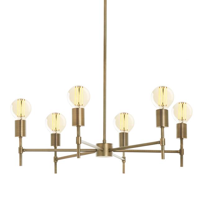 Prospect 6-Light Round Chandelier, Aged Brass