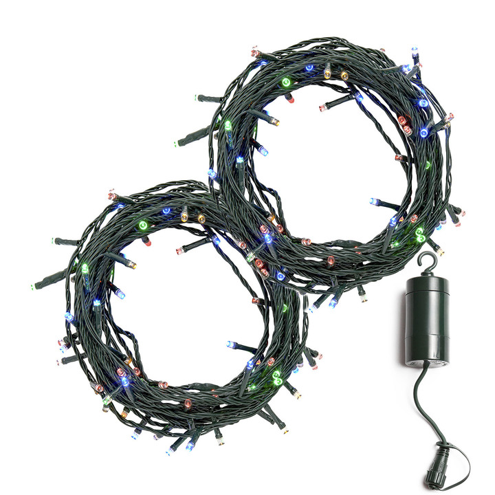 Multicolor LED Christmas Lights, 60 feet
