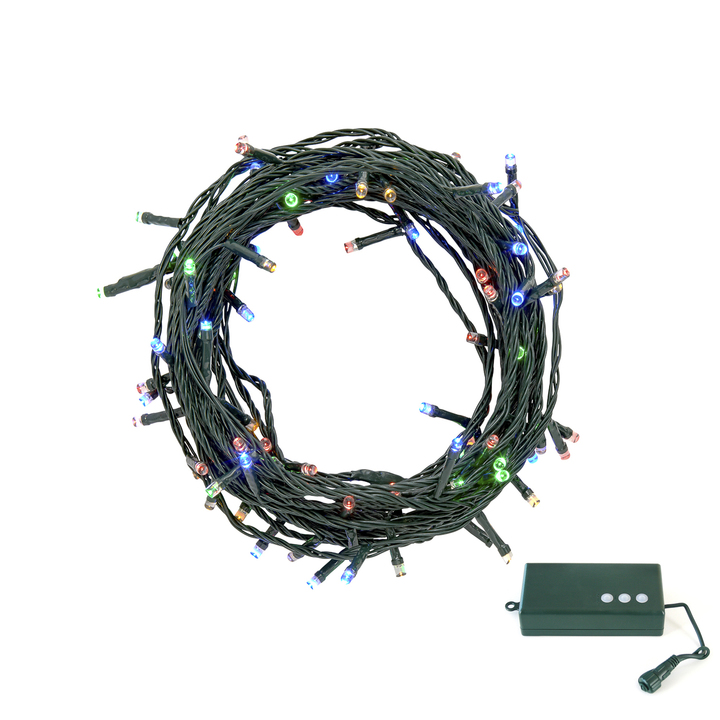 Multicolor LED Christmas Lights with D Battery Box, 30 feet
