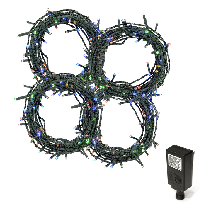 Multicolor LED Christmas Lights Plug-In, 120 feet