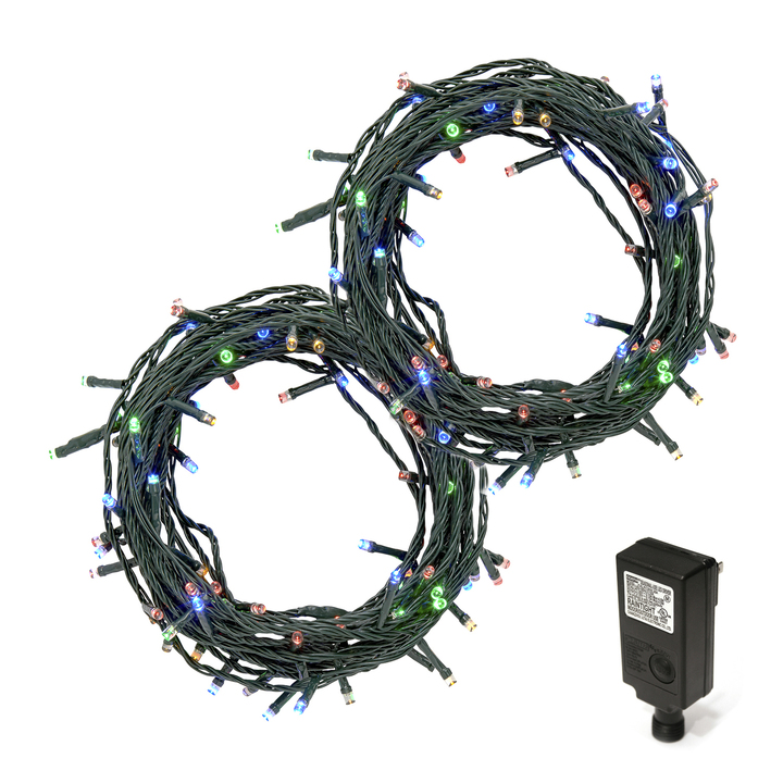 Multicolor LED Christmas Lights Plug-In, 60 feet